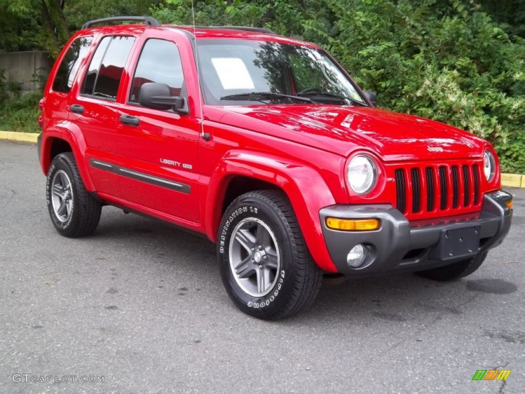 2004 flame red jeep liberty sport 4x4 columbia edition 54418682 photo 3 car. Black Bedroom Furniture Sets. Home Design Ideas