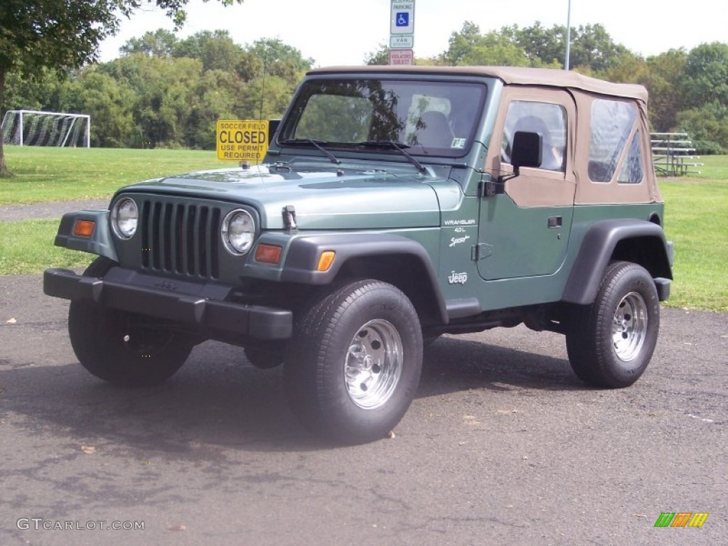 1999 medium fern green pearlcoat jeep wrangler sport 4x4. Black Bedroom Furniture Sets. Home Design Ideas