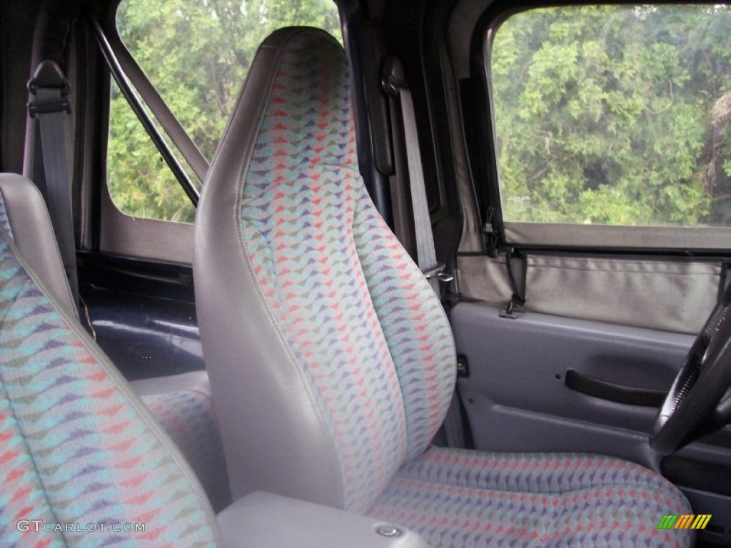 Gray Interior 1997 Jeep Wrangler Se 4x4 Photo 54507689