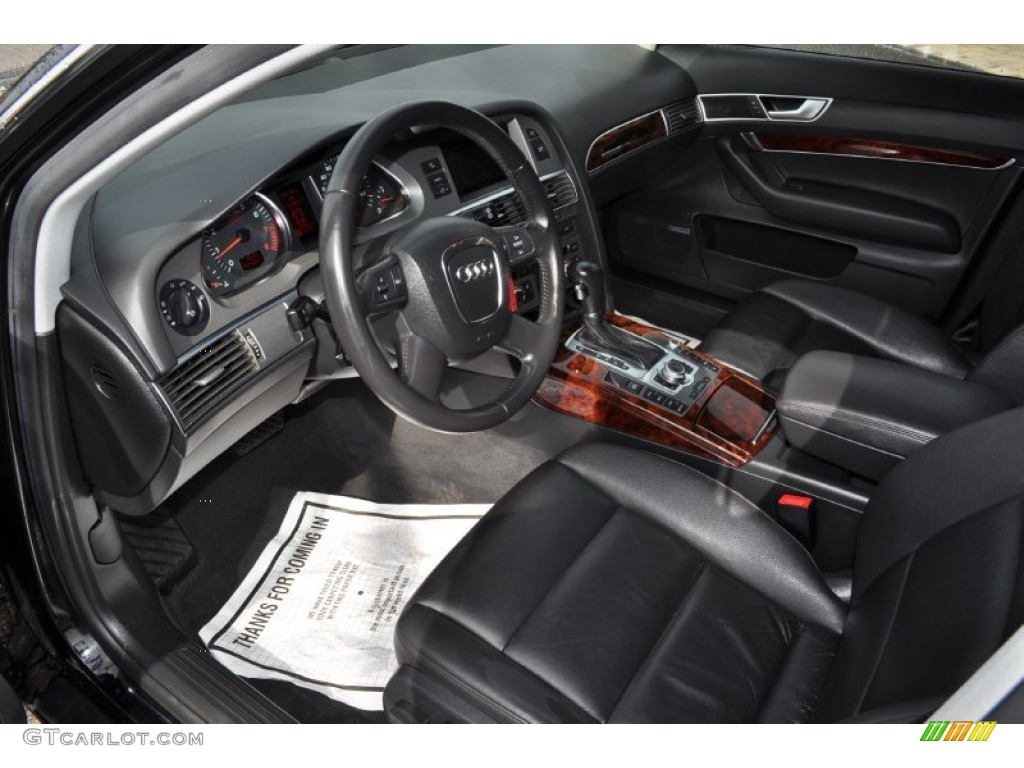 ebony interior 2006 audi a6 3 2 quattro avant photo. Black Bedroom Furniture Sets. Home Design Ideas