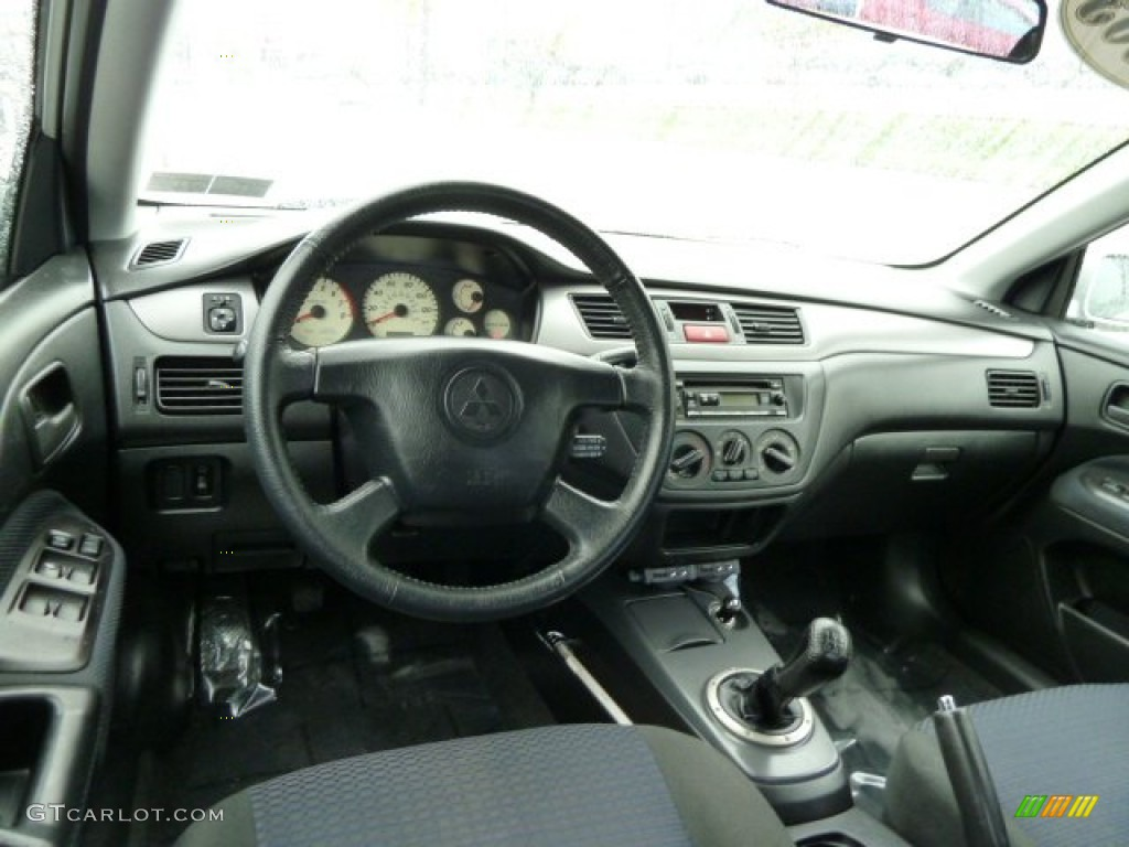2003 Mitsubishi Lancer OZ Rally Black Dashboard Photo #54531539