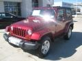 2012 Deep Cherry Red Crystal Pearl Jeep Wrangler Sahara 4x4  photo #1