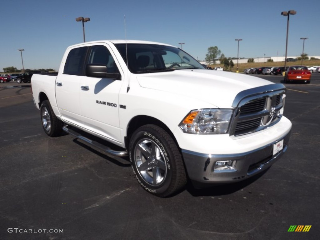 Bright White 2012 Dodge Ram 1500 Big Horn Crew Cab 4x4 Exterior Photo ...