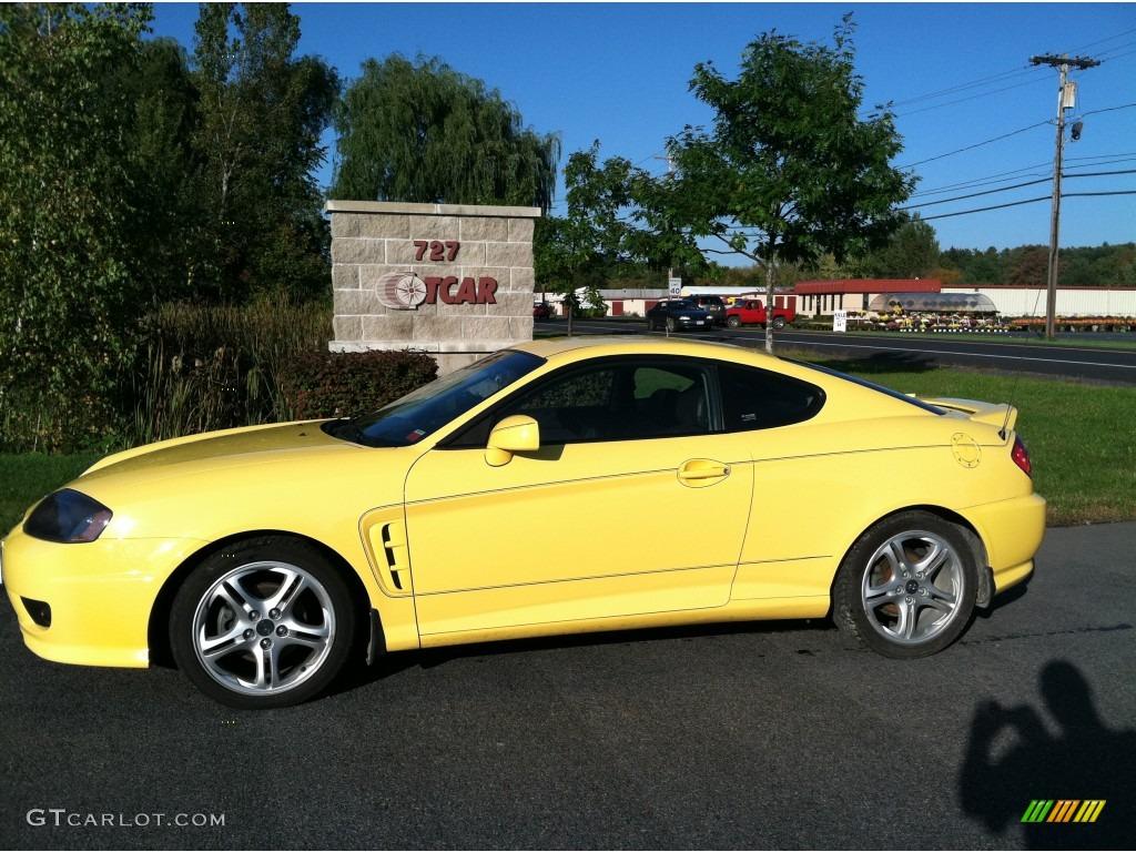 Sunburst Yellow Hyundai Tiburon Gt