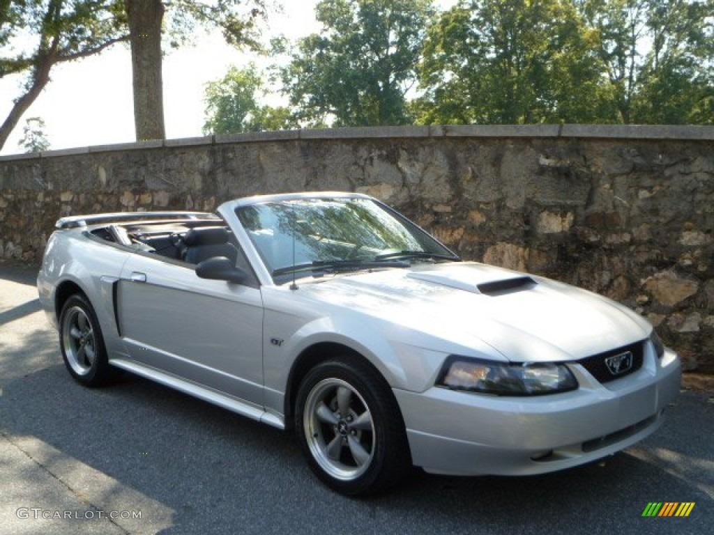 Satin Silver Metallic Ford Mustang Gt Convertible