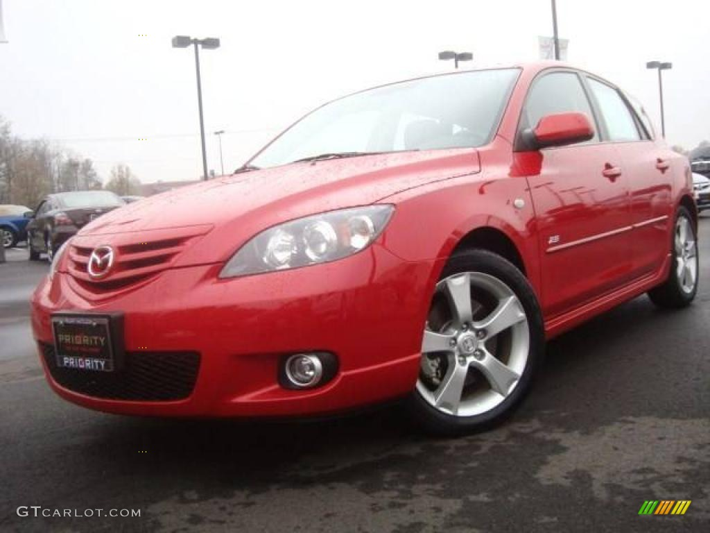 2005 velocity red mica mazda mazda3 s hatchback 5436244. Black Bedroom Furniture Sets. Home Design Ideas