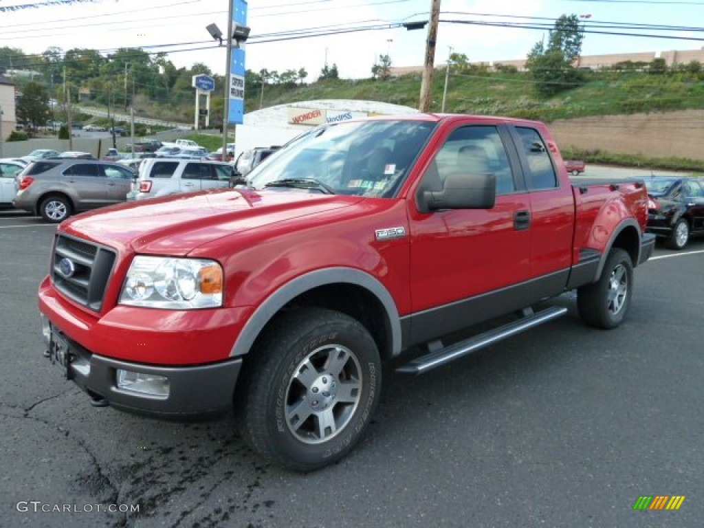 Bright red 2005 ford f150 fx4 supercab 4x4 exterior photo 54578927