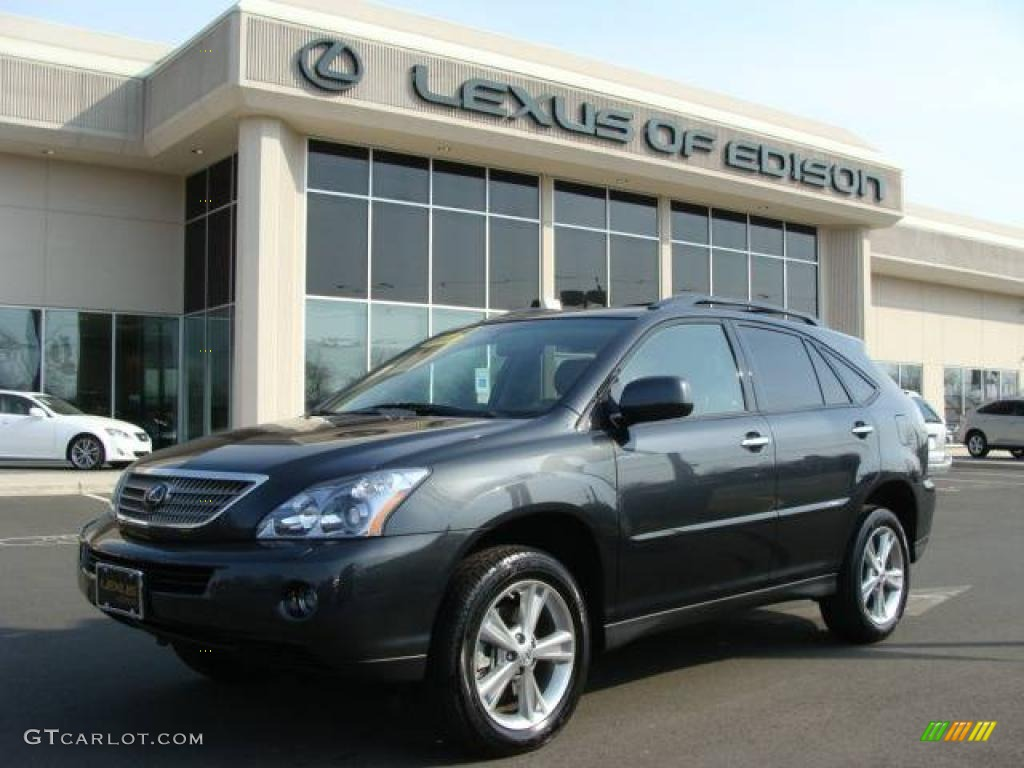 2008 Rx 400h Awd Hybrid Smoky Granite Mica Black Photo 1
