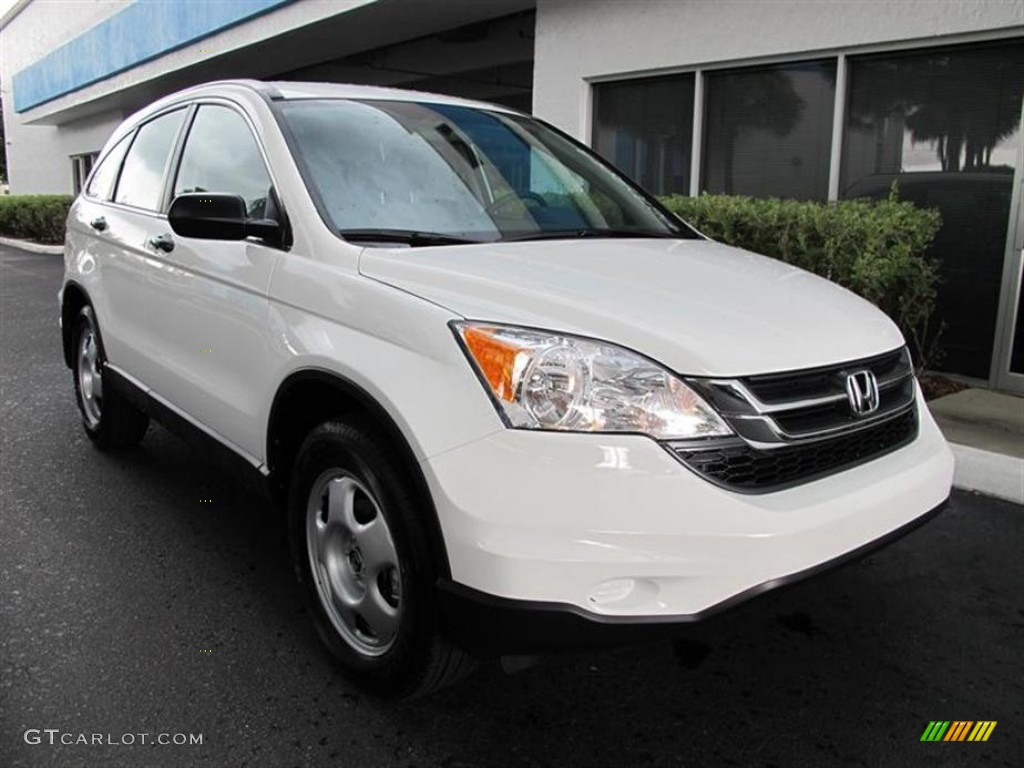 2011 CR-V LX - Taffeta White / Gray photo #1