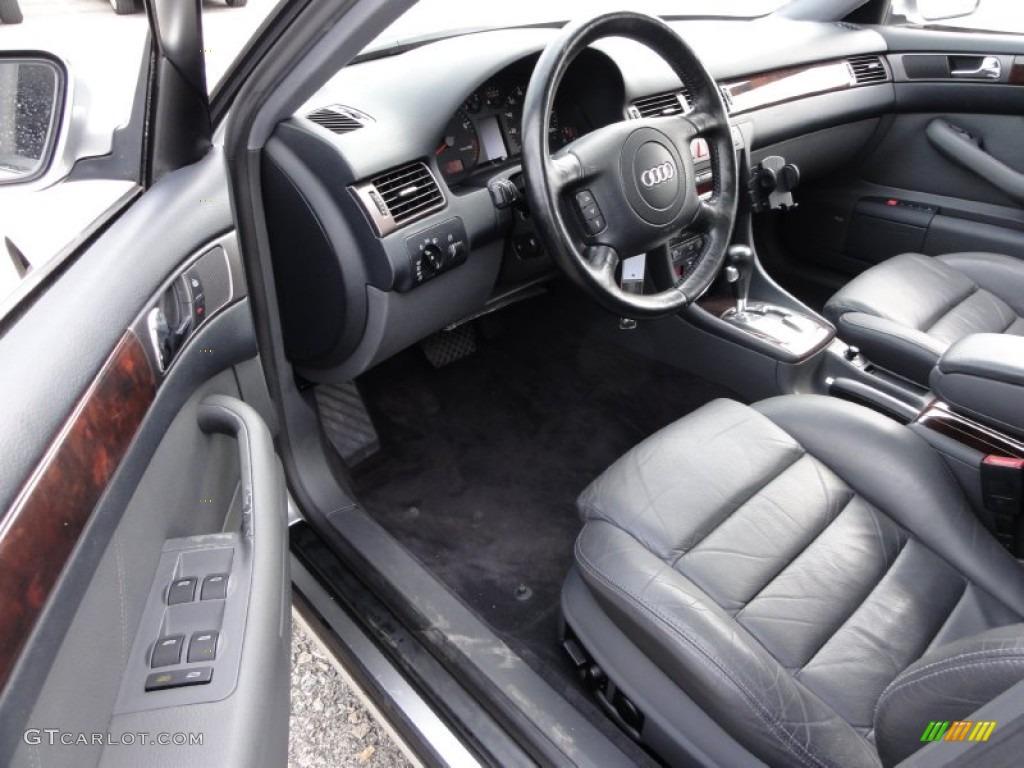 tungsten grey interior 2001 audi a6 4 2 quattro sedan. Black Bedroom Furniture Sets. Home Design Ideas