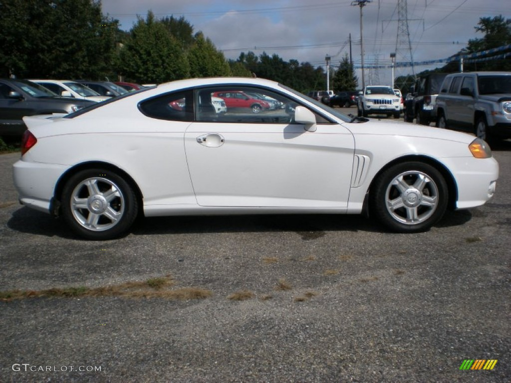 Alpine White 2003 Hyundai Tiburon Gt V6 Exterior Photo