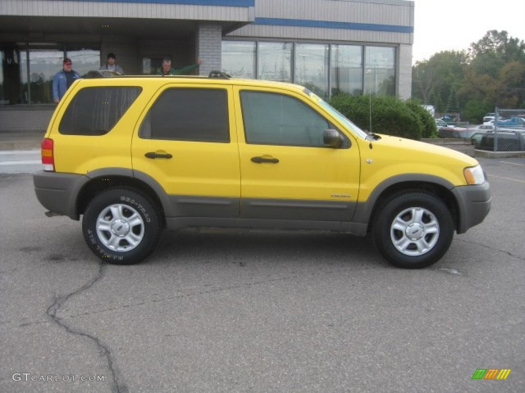 Chrome Yellow Metallic 2001 Ford Escape XLT V6 Exterior Photo