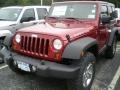 2012 Deep Cherry Red Crystal Pearl Jeep Wrangler Rubicon 4X4  photo #1