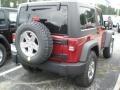 2012 Deep Cherry Red Crystal Pearl Jeep Wrangler Rubicon 4X4  photo #2