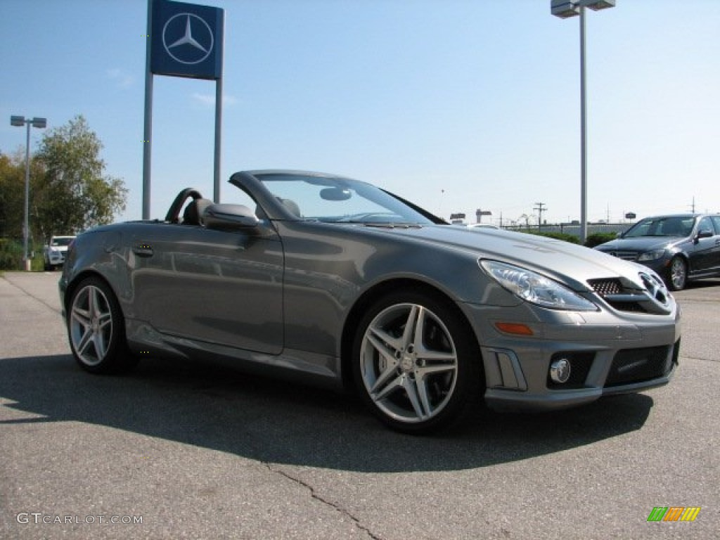 2010 palladium silver metallic mercedes benz slk 55 amg for 2010 mercedes benz slk