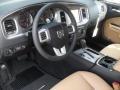 Tan/Black 2012 Dodge Charger Interiors