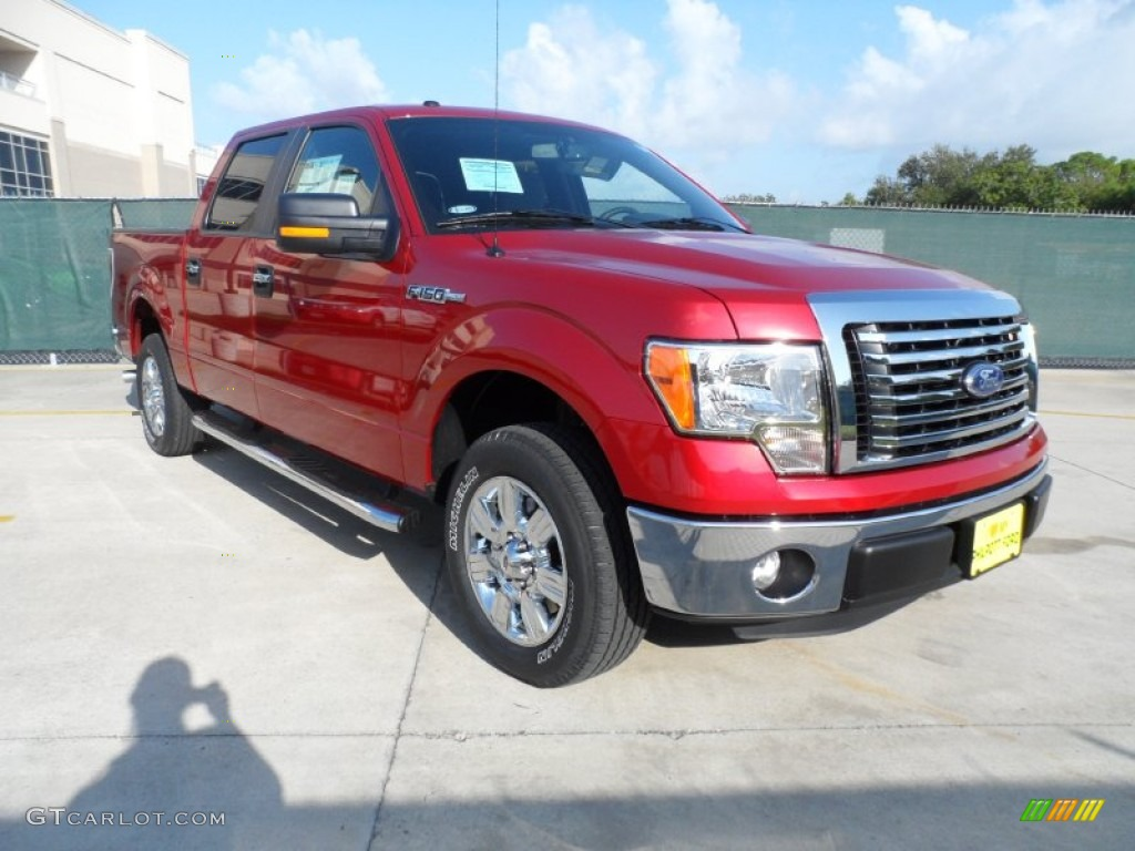2011 f150 texas edition supercrew red candy metallic steel gray photo 1