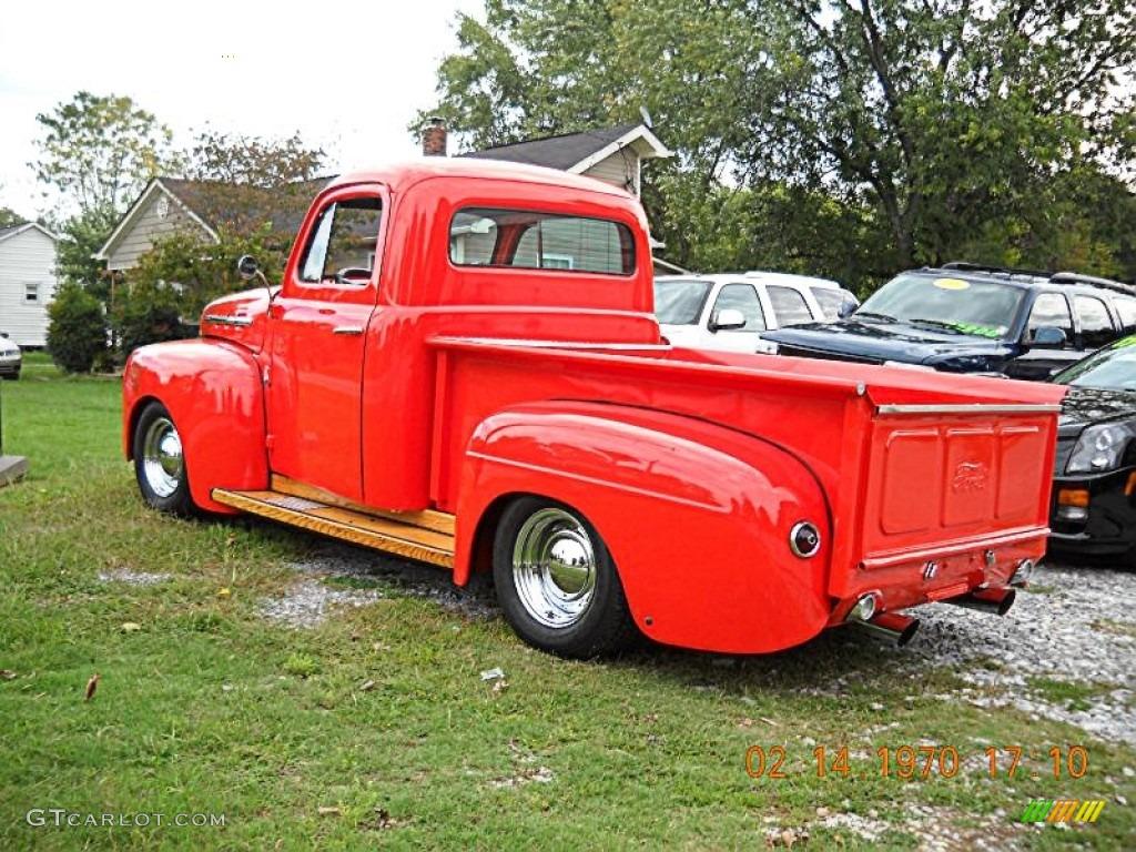 orange 1951 ford f1 pickup custom exterior photo 54635445. Black Bedroom Furniture Sets. Home Design Ideas