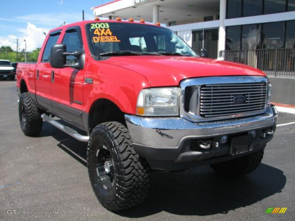 2003 red ford f350 super duty fx4 crew cab 4x4 54631074 car color galleries. Black Bedroom Furniture Sets. Home Design Ideas