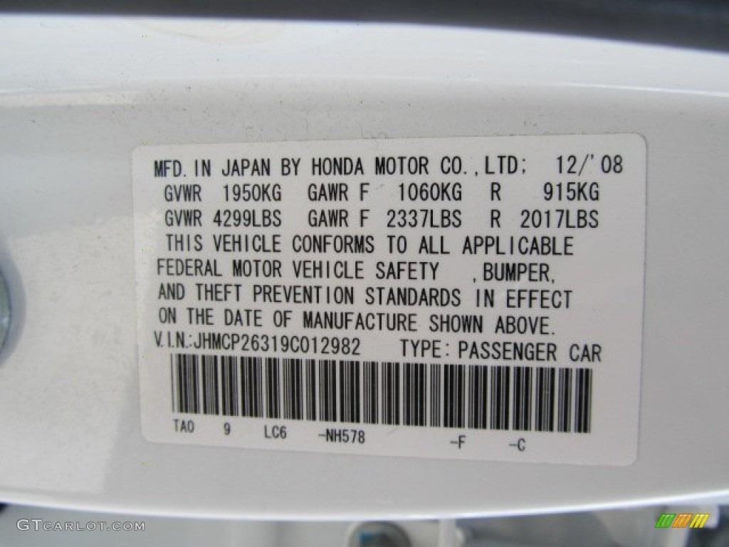 2009 Honda Accord Lx Sedan Color Code Photos Gtcarlot Com