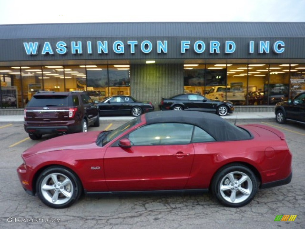 2012 red candy metallic ford mustang gt convertible