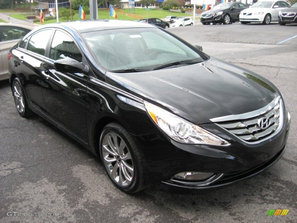 midnight black 2012 hyundai sonata se exterior photo 54663240. Black Bedroom Furniture Sets. Home Design Ideas