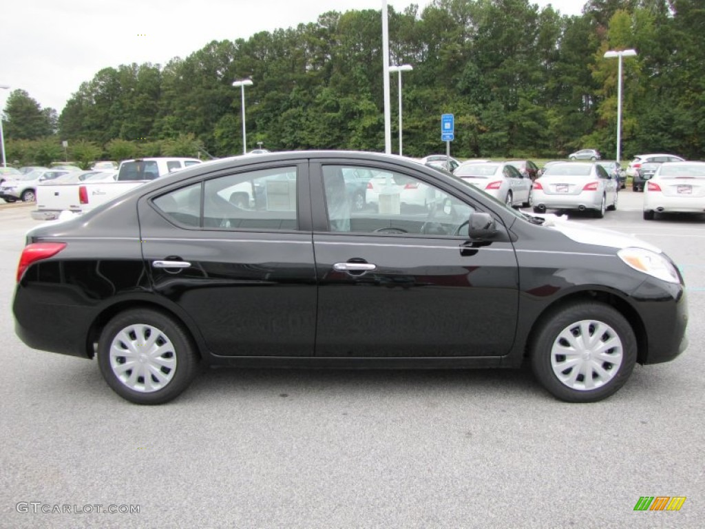 super black 2012 nissan versa 1 6 sv sedan exterior photo 54666835. Black Bedroom Furniture Sets. Home Design Ideas