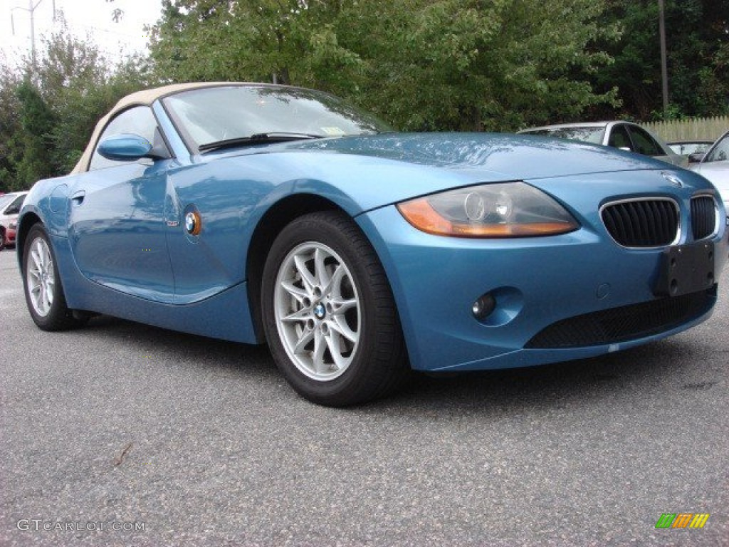 2004 Bmw Z4 Blue 200 Interior And Exterior Images