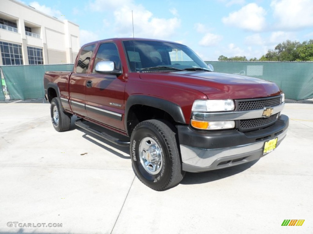 2001 chevrolet silverado 2500hd ls extended cab dark carmine red. Cars Review. Best American Auto & Cars Review