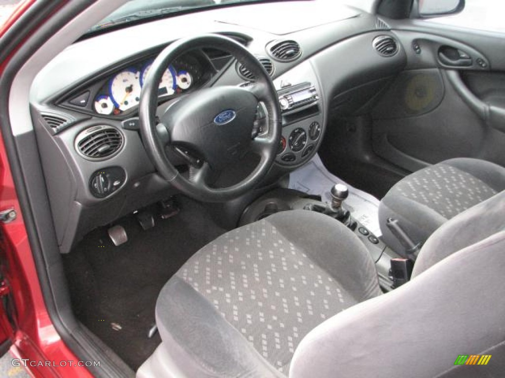 medium graphite interior 2002 ford focus zx3 coupe photo. Black Bedroom Furniture Sets. Home Design Ideas