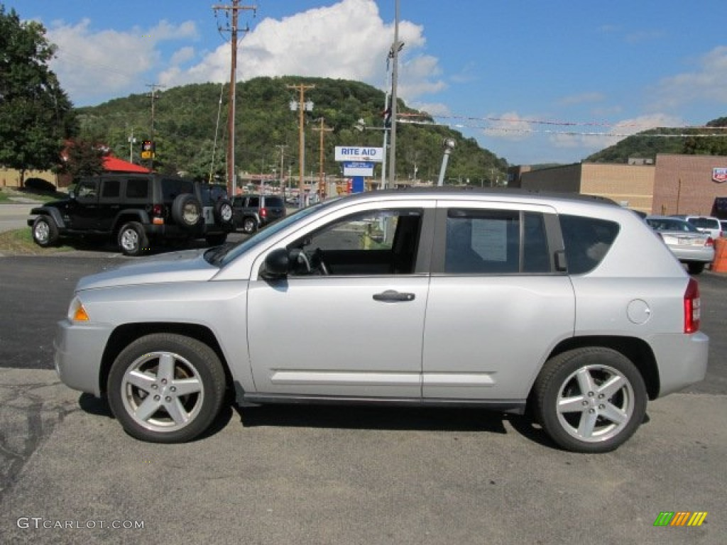 2007 bright silver metallic jeep compass limited 4x4. Black Bedroom Furniture Sets. Home Design Ideas