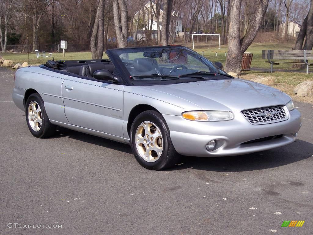 2000 sebring jxi limited convertible bright silver metallic agate photo 1