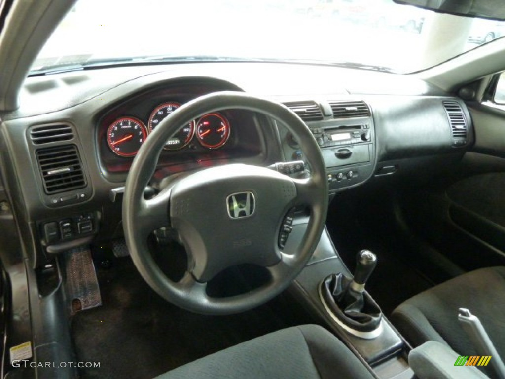 2003 Honda Civic EX Coupe Black Dashboard Photo #54707098