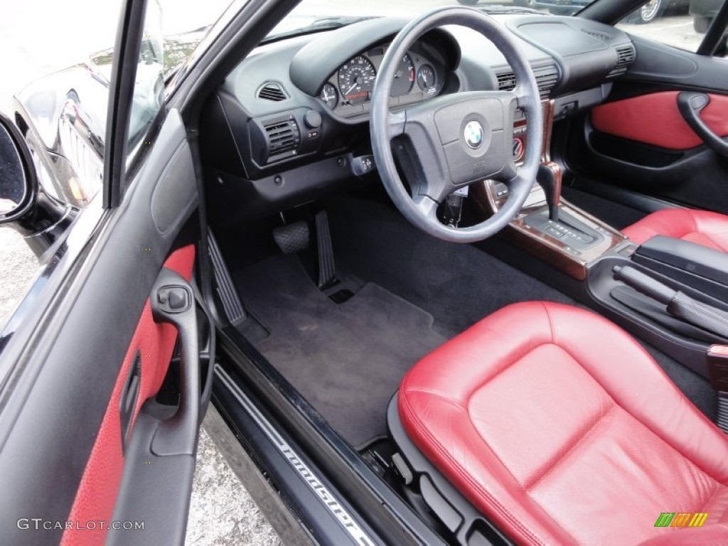 Red Interior 1998 Bmw Z3 2 8 Roadster Photo 54715693