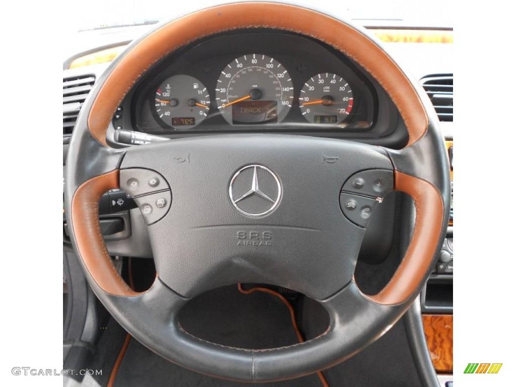 2000 mercedes benz clk 430 coupe light brown steering for Mercedes benz steering wheel control buttons