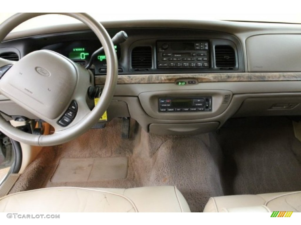 2000 ford crown victoria lx sedan medium parchment dashboard photo 54744450. Black Bedroom Furniture Sets. Home Design Ideas