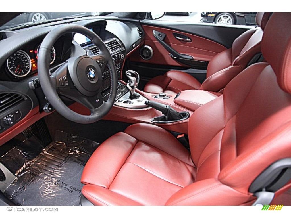 Indianapolis Red Full Merino Leather Interior 2009 Bmw M6