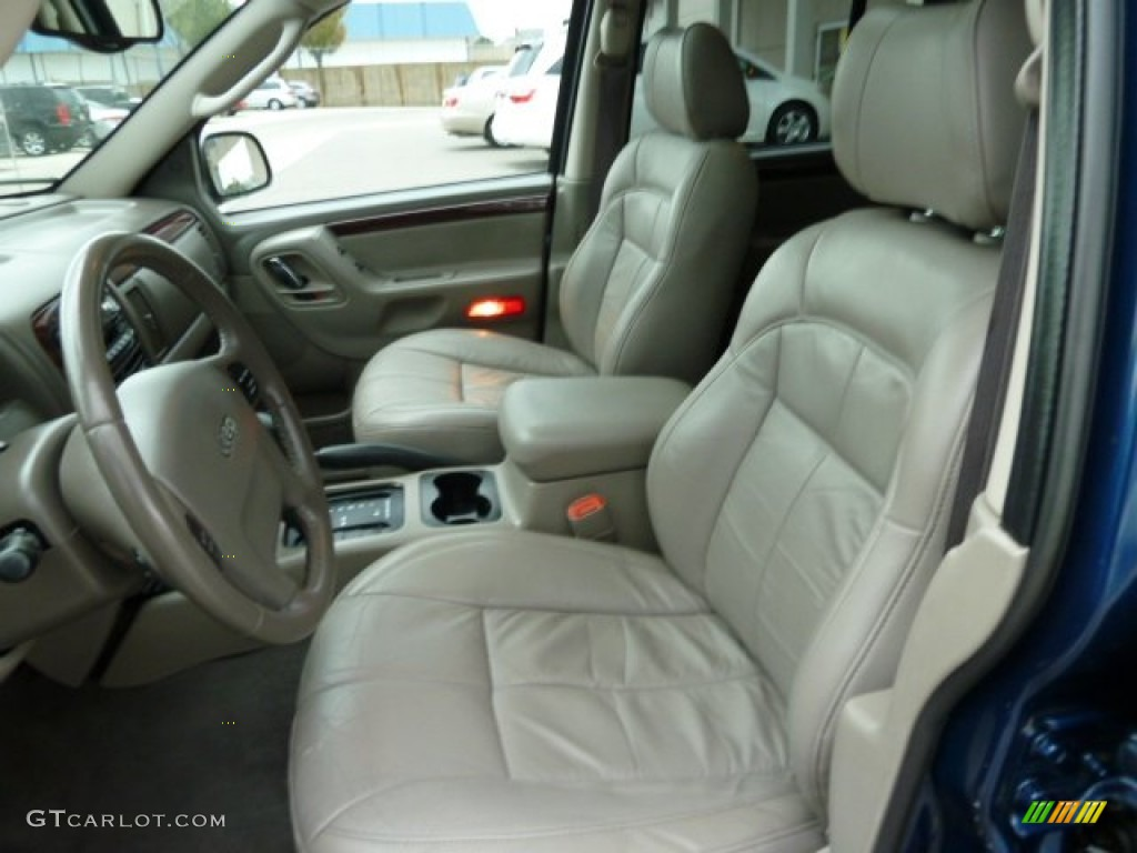 Taupe Interior 2003 Jeep Grand Cherokee Limited 4x4 Photo 54762275