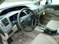 2012 Civic Beige Interior