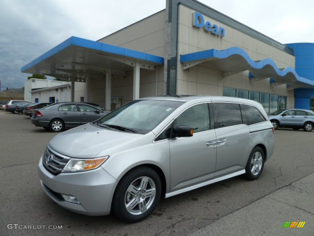 2012 alabaster silver metallic honda odyssey touring elite 54738926 car color. Black Bedroom Furniture Sets. Home Design Ideas