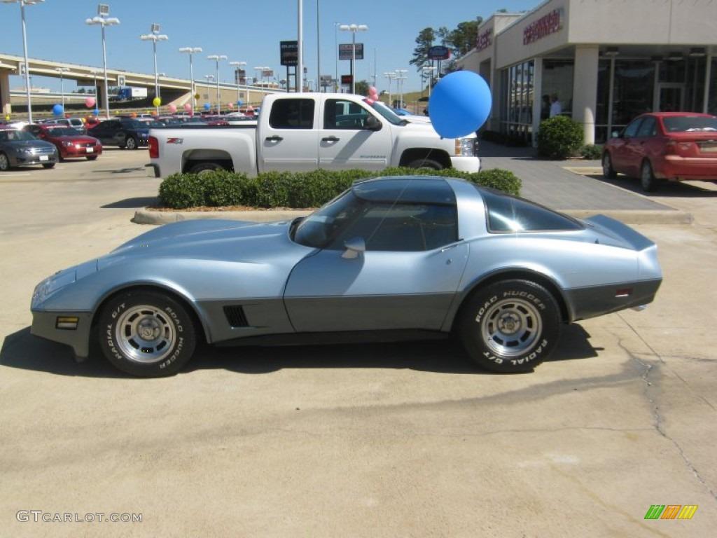 1982 Silver Blue Chevrolet Corvette Coupe #54738686 Photo #2