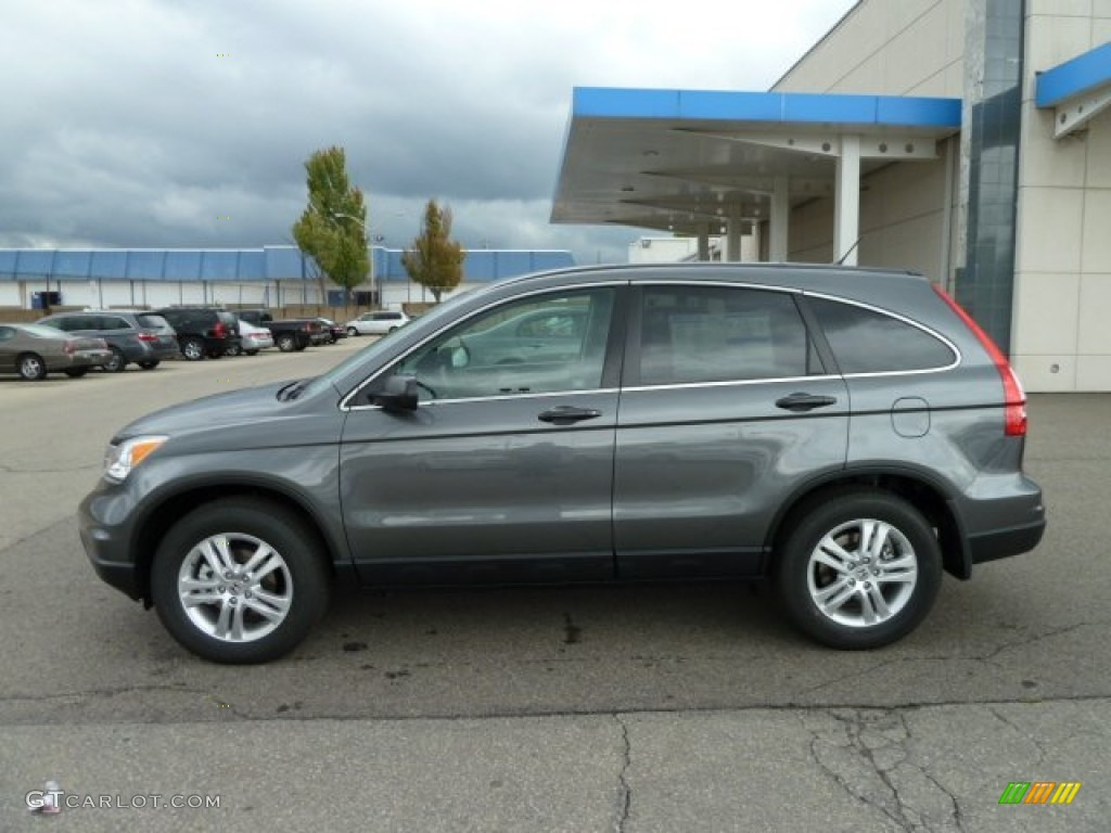 2011 CR-V EX 4WD - Polished Metal Metallic / Black photo #2