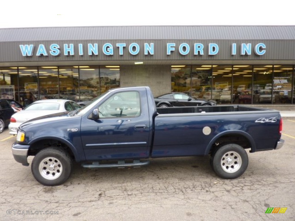 2002 f150 xl regular cab 4x4 true blue metallic medium graphite photo 1