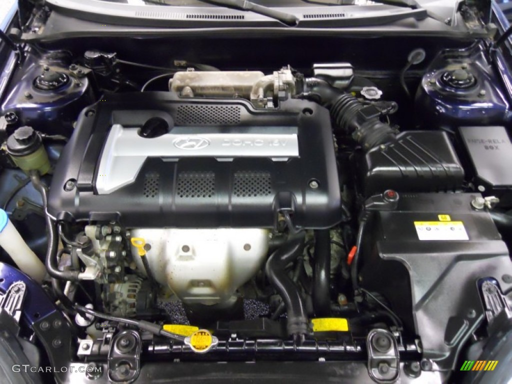 2005 Hyundai Tiburon Gs 2 0 Liter Dohc 16 Valve 4 Cylinder