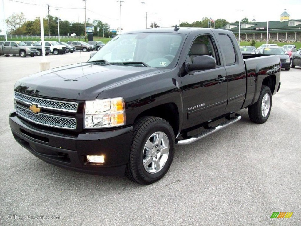 black 2012 chevrolet silverado 1500 ltz extended cab 4x4 exterior photo 54794964. Black Bedroom Furniture Sets. Home Design Ideas
