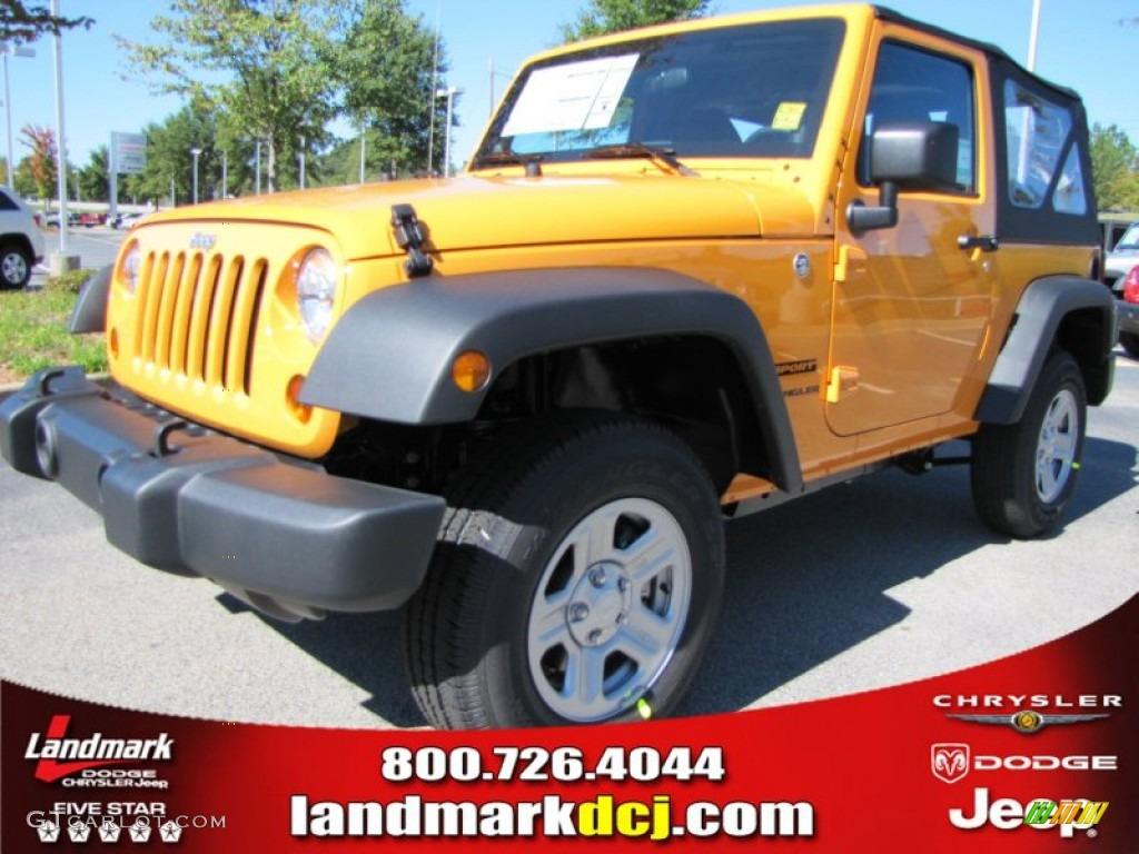 Dozer Yellow Jeep Wrangler