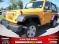 2012 Dozer Yellow Jeep Wrangler Sport 4x4  photo #1