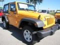 2012 Dozer Yellow Jeep Wrangler Sport 4x4  photo #4