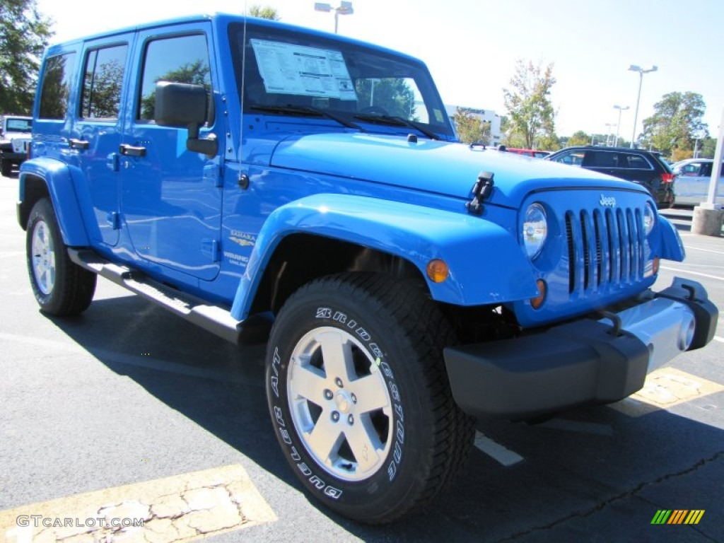 cosmos blue 2012 jeep wrangler unlimited sahara 4x4 exterior photo 54796051. Black Bedroom Furniture Sets. Home Design Ideas