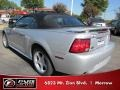 2001 Silver Metallic Ford Mustang GT Convertible  photo #2